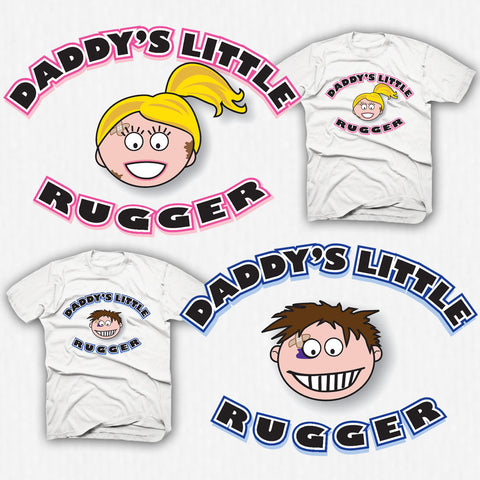 Daddy's Little Rugger Rugby T-shirt