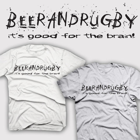 Beer & Rugby... it's Good for the Brain T-shirt