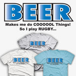 BEER Makes Me Do Cool Things / Rugby T-shirt