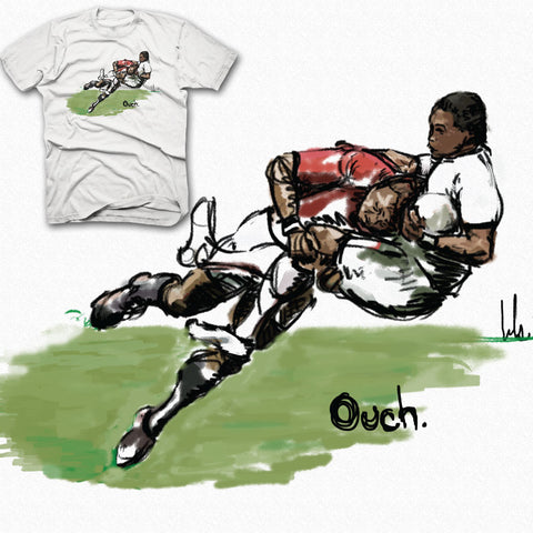 """Ouch"" Rugby Tackle T-shirt"