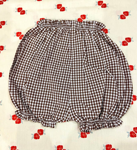 Vichy Bloomers / Chocolate