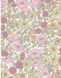 LIBERTY OF LONDON/ Kingly Cord Poppy And Daisy Pastel