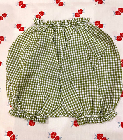 Vichy Bloomers / Bottle Green