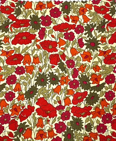 LIBERTY OF LONDON/ Kingly Cord Poppy And Daisy vintage