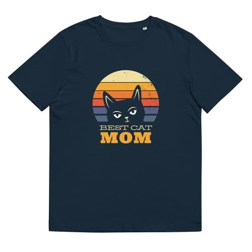 Best Cat Mom Organic Cotton T-shirt