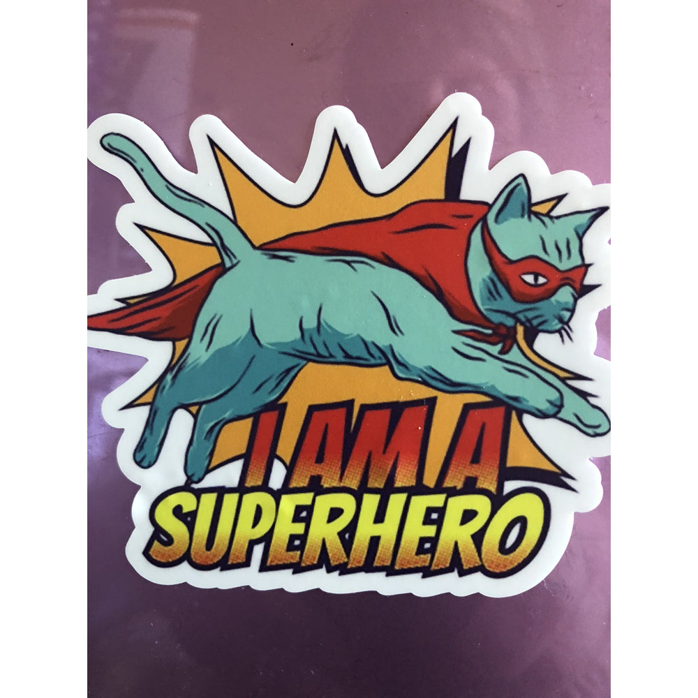 SuperHero Vinyl Sticker - FullyFeline