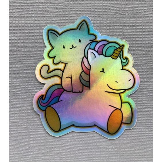 Kitten and Unicorn Sticker