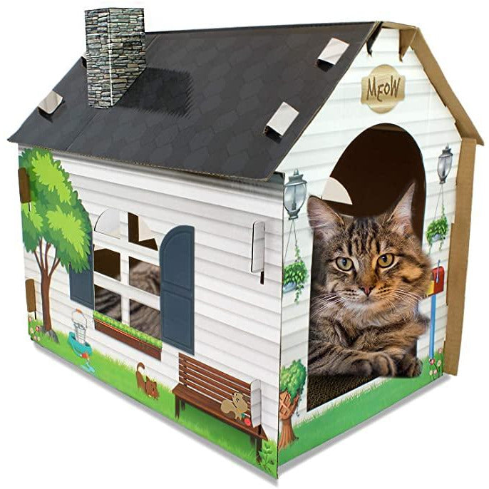 ASPCA Cat Scratcher House - FullyFeline