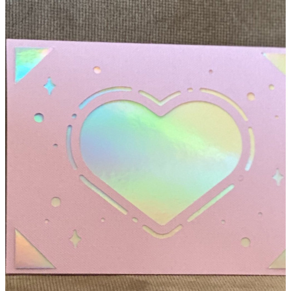 Hologram Heart Card - FullyFeline