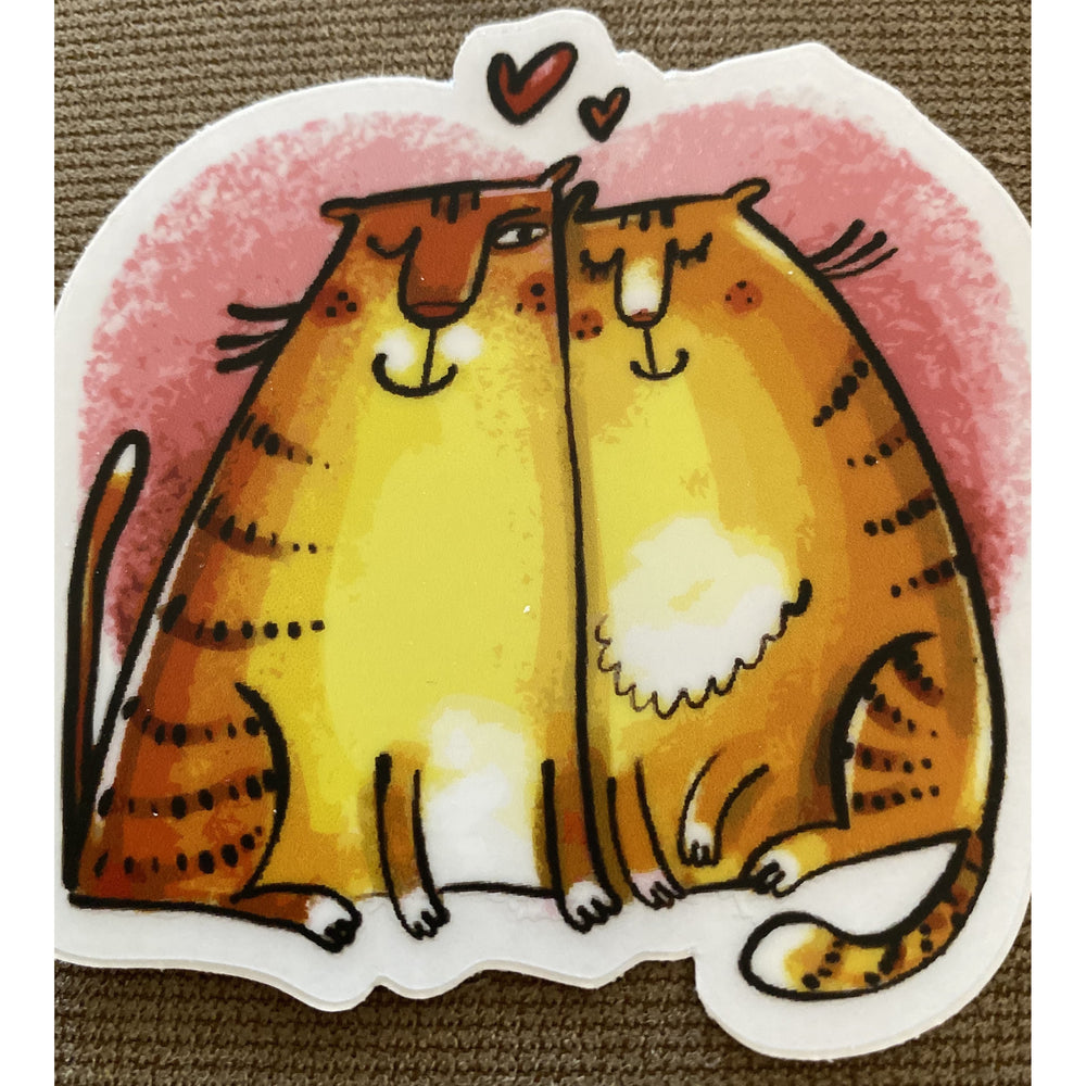 Cat Couple Sticker - FullyFeline