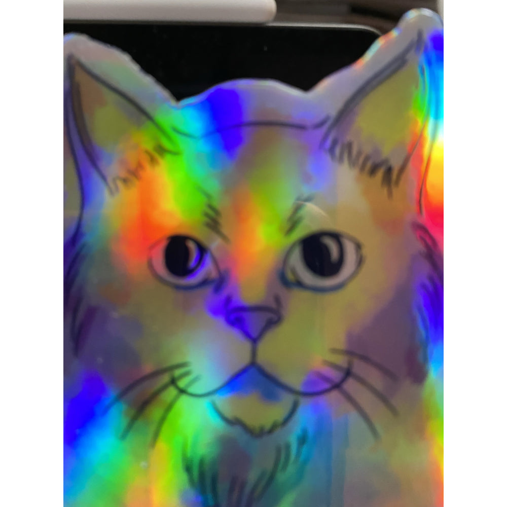 Pastel Cat Hologram Sticker
