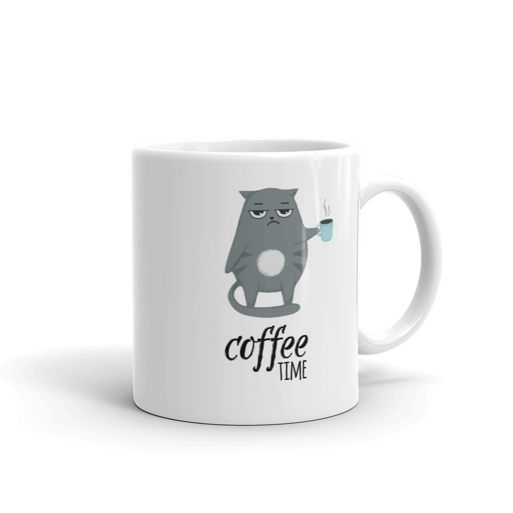 Coffee Time Mug With Coffee Sampler - FullyFeline