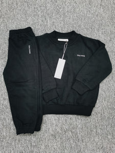 Adult Woodie Logo Tracksuit - Black