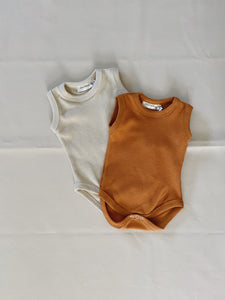 Cali Waffle Bodysuit - Biscuit