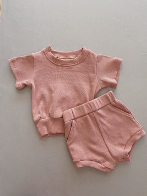 River Mini Ribbed Set - Bubblegum