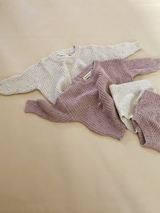 Emmi Sprinkle Knit Set - Rose