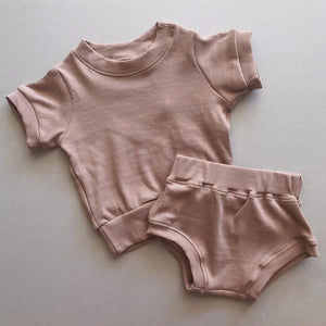 Roo Mini Ribbed  Set - Mauve