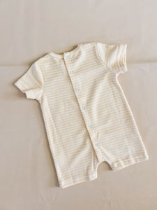 Magnolia Terry Towel Playsuit - Lemon Stripe