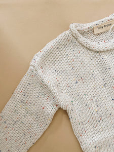 Peppa Sprinkle Knit Jumper - Pearl