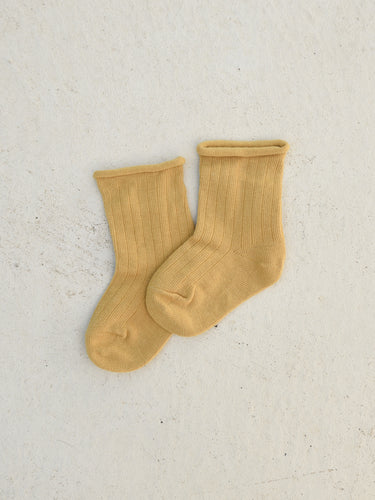 Ribbed Socks - Mustard