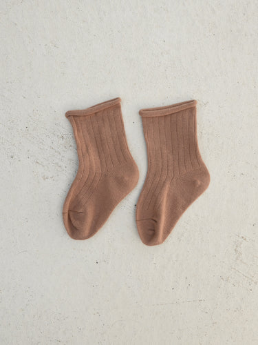 Ribbed Socks - Clay
