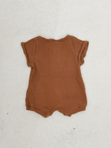 Artie Ribbed Playsuit - Golden