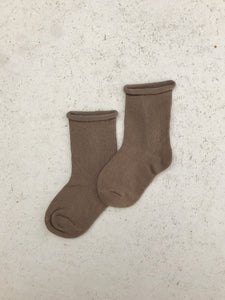 Ribbed Socks- Oak