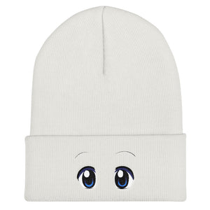 Dazed Eyes Cuffed Beanie