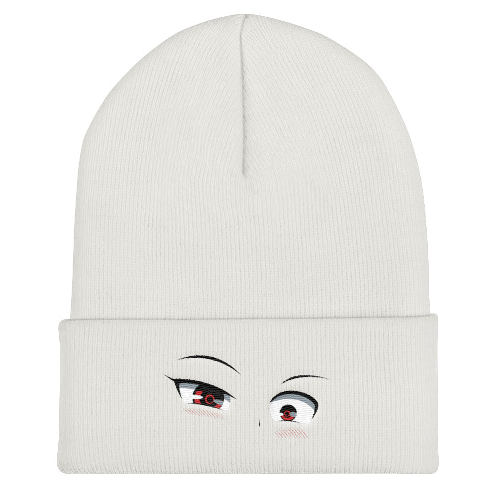 Crazy Eyes Cuffed Beanie