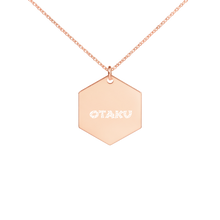 Load image into Gallery viewer, Otaku Engraved Silver Hexagon Necklace