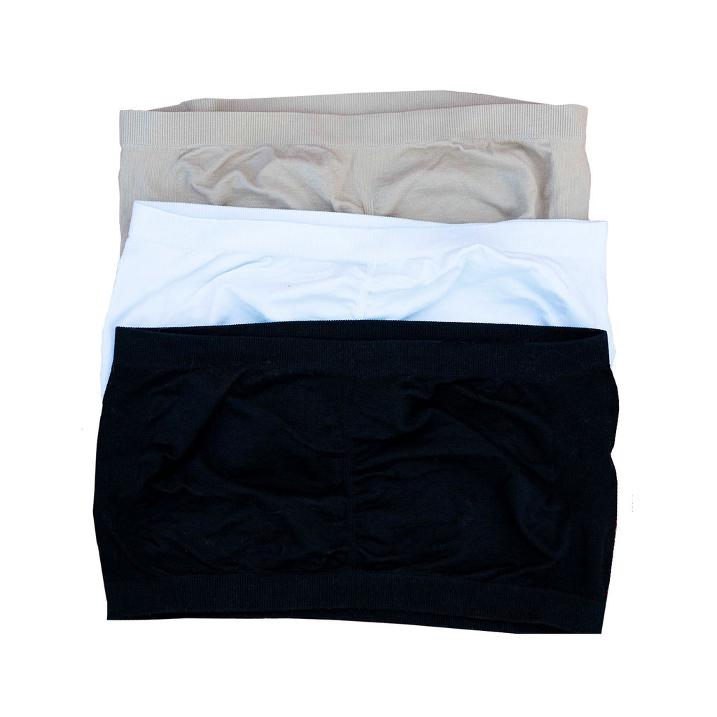 Xtreme Comfort Bandeau - 3 Pack (UN-padded)