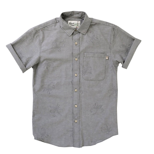 Manele Spider Lily Grey Chambray - SIZE XS + M ONLY