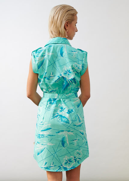 Shirt Dress South Seas Aqua - SIZE S ONLY