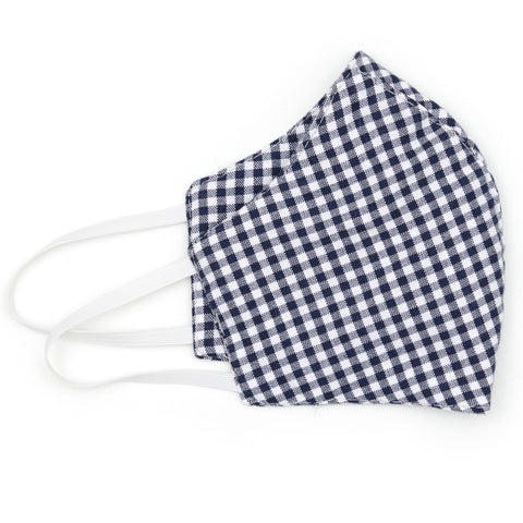 Mini Gingham Navy Face Mask - NEW!