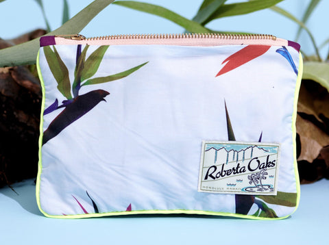 ALOHA POUCH - BIRD OF PARDISE BLUE