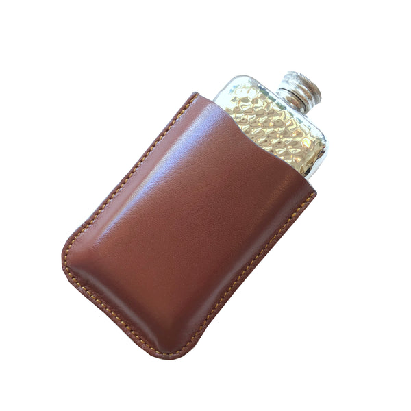 Hammered Flask - 3 oz. + Leather Case