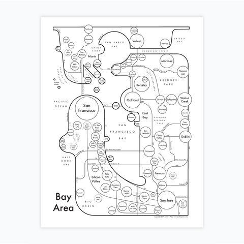 Bay Area Letterpress Print