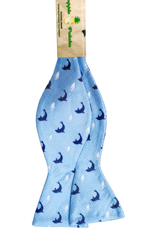 Nai'a Light Blue Self-tie Silk Bowtie