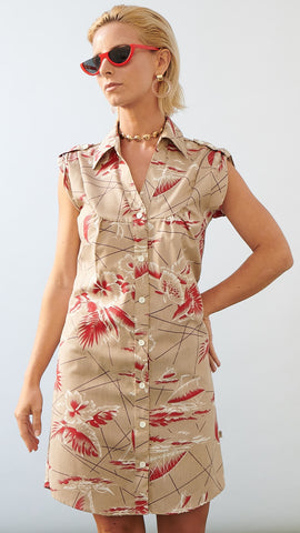 Shirt Dress South Seas Tan