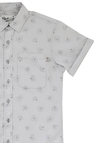 Hibiscus Short Sleeve City Grey - New!