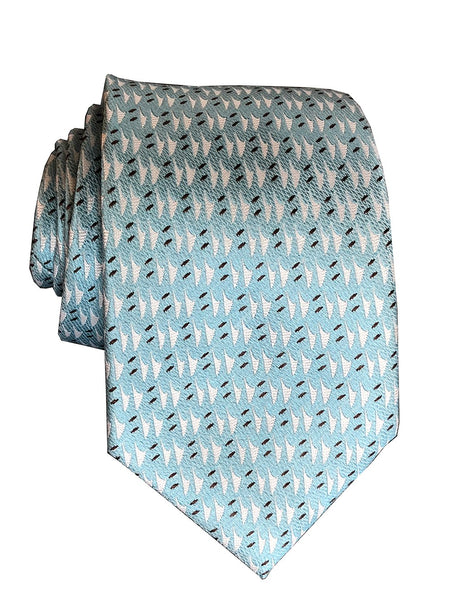 Hawaiian Voyage Powder Blue Modern Tie