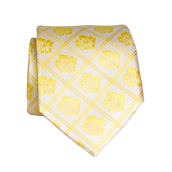 Hibiscus Yellow Modern Silk