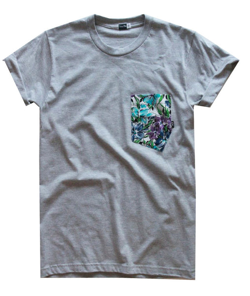 Aloha Tee - Wildflowers Grey