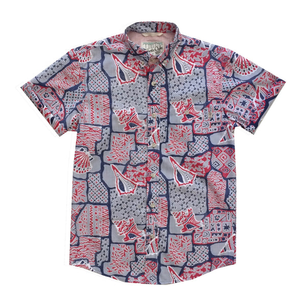 Kekaha Kai Grey-Red LAST ONE SIZE S