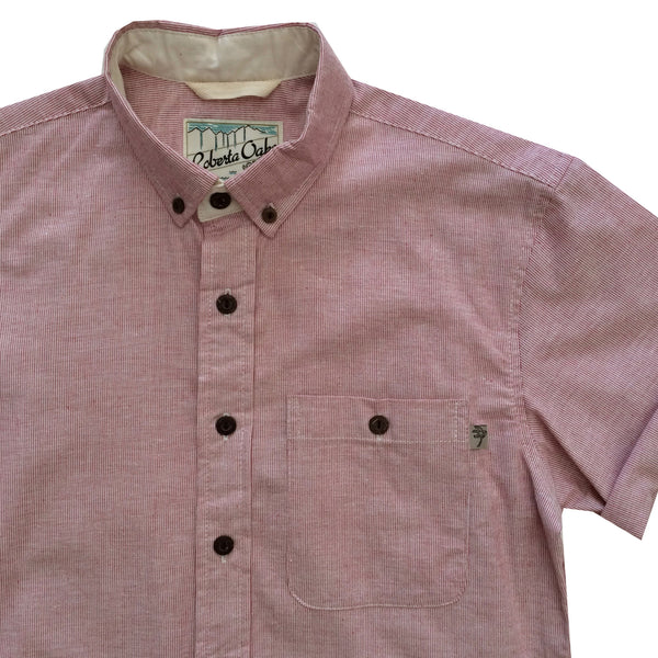 Pinstripe Chambray Red