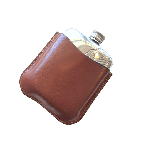 Acanthus Flask 4oz. + Leather Case