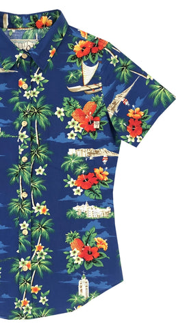 Waikiki Ladies Aloha Shirt - SIZE XS ONLY