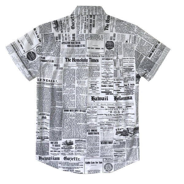 Pow! Wow! Hawaii 2019 Old News Button Front Shirt - LAST ONE SIZE XS