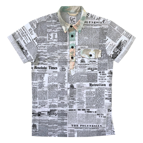 Pow! Wow! Hawaii 2019 Old News Pullover Shirt