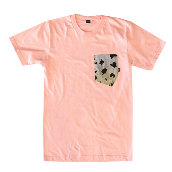 Aloha Tee - Jungle Fever Miami Peach